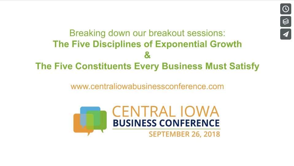 monte wyatt central iowa business conference video
