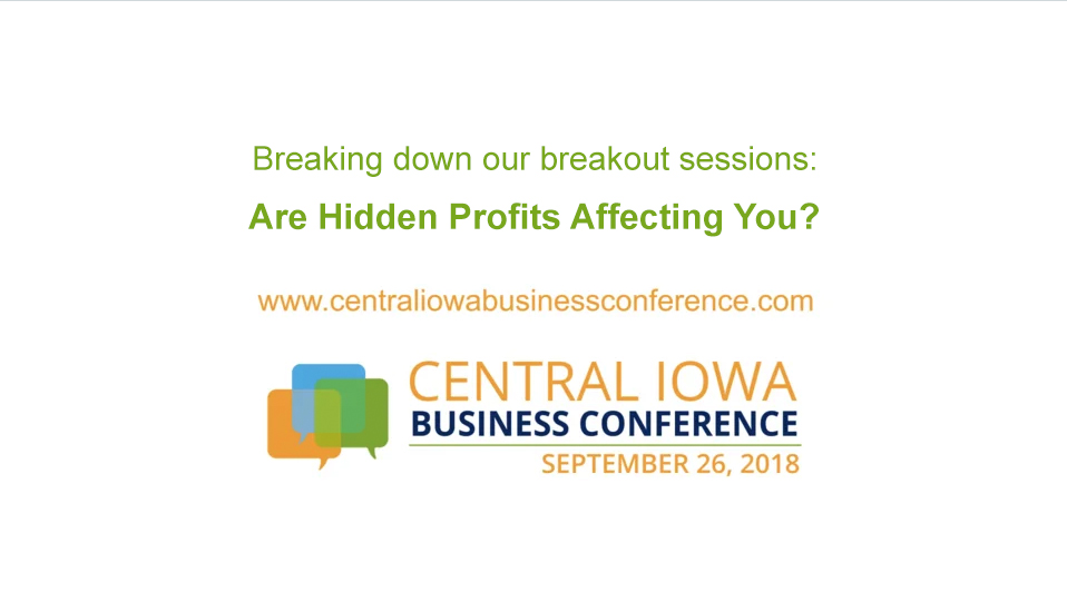 neil blanchard profits central iowa business conference