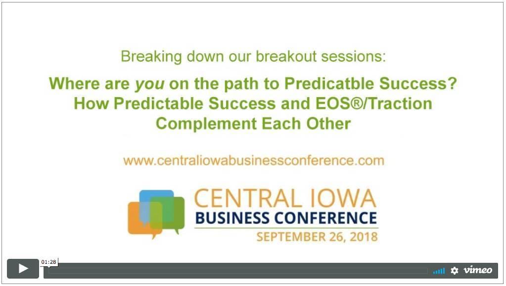 predictable success central iowa business conference