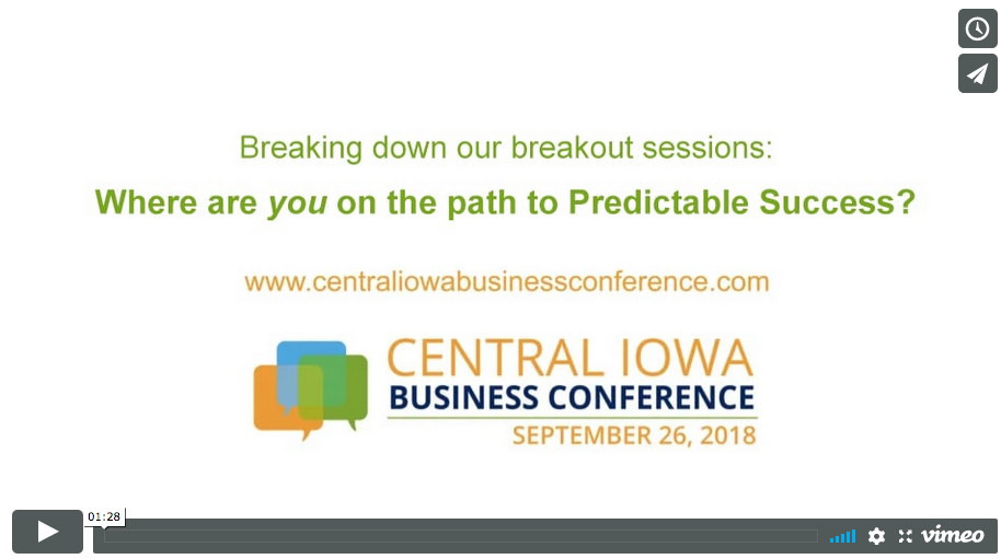 predictable success des moines business conference